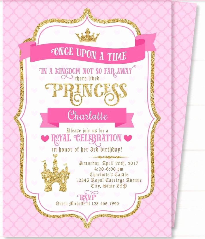 Free Princess Invitation Template Lovely Free Printable Royal Princess Party Invitation Templates