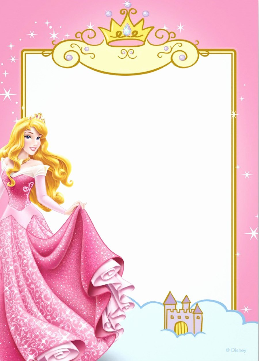 Free Princess Invitation Template Luxury Free Printable Princess Invitation Templates
