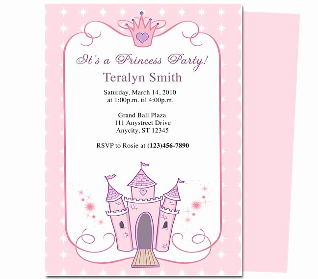 Free Princess Invitation Template Unique Kids Party Princess Kids Birthday Party Invitation Template Convite Pinterest
