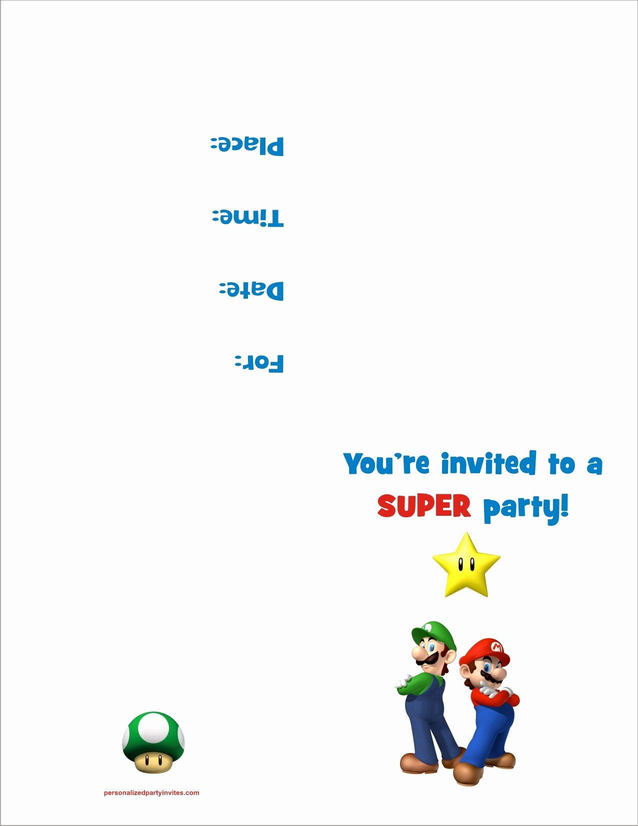 Free Printable Anniversary Invitations Elegant Super Mario Bros Free Printable Birthday Party Invitation Personalized Party Invites