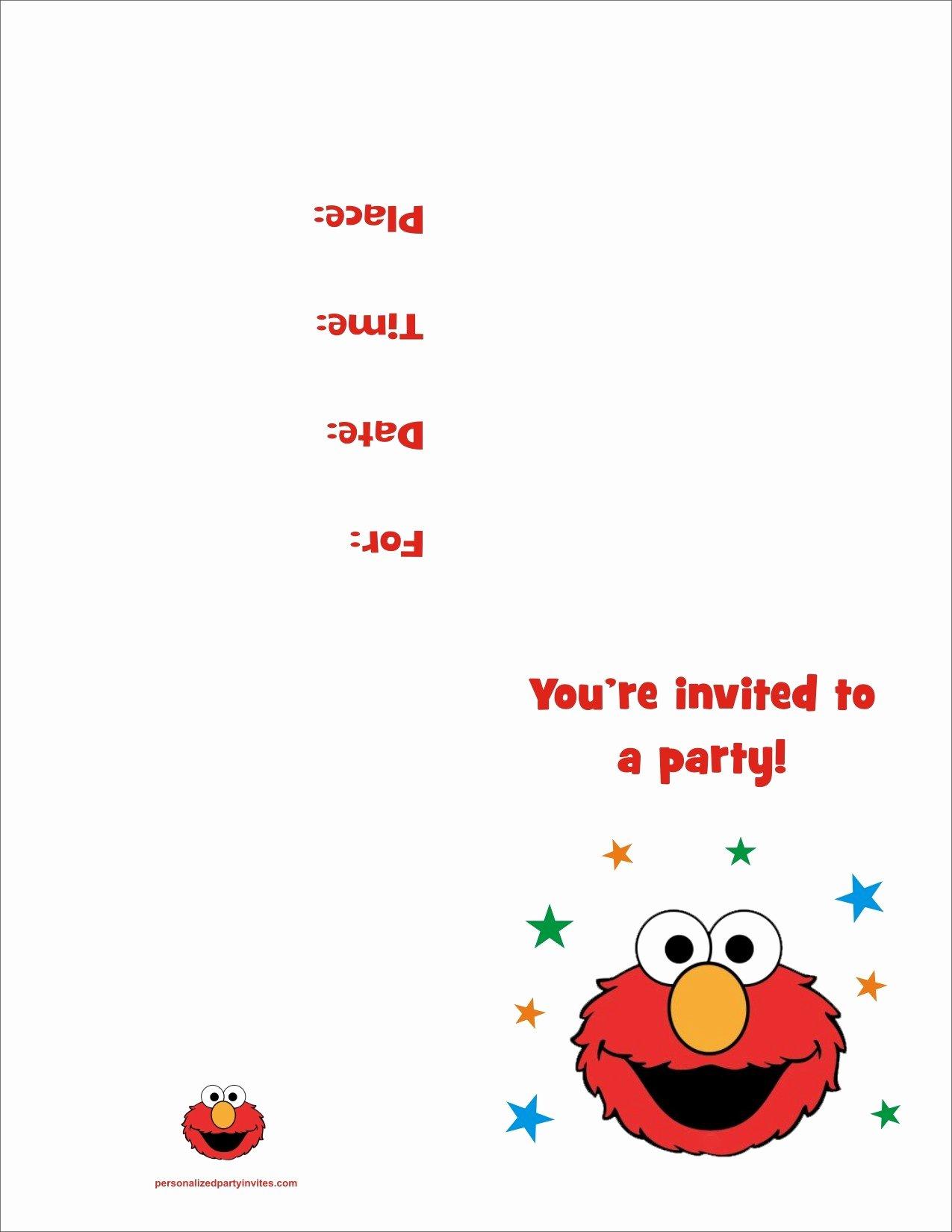 Free Printable Anniversary Invitations Fresh Elmo Free Printable Birthday Party Invitation Personalized Party Invites
