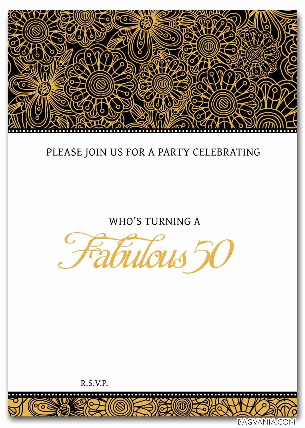 Free Printable Anniversary Invitations Lovely Free 50th Birthday Party Invitations Wording – Free Printable Birthday Invitation Templates