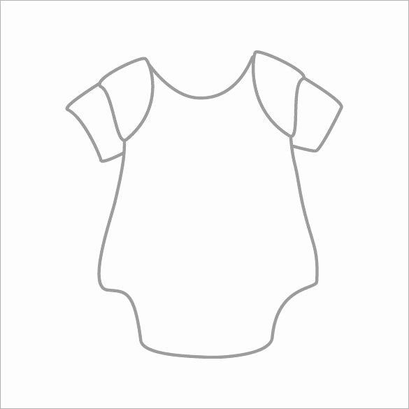 Free Printable Baby Onesie Template Awesome 20 Esie Templates Psd Pdf