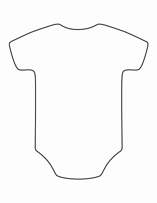Free Printable Baby Onesie Template Fresh Esie Pattern Use the Printable Outline for Crafts Creating Baby Girl Yates