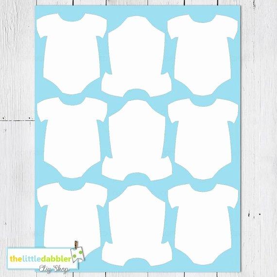 Free Printable Baby Onesie Template Fresh Free Printable Baby Esie Template Cards In 2019