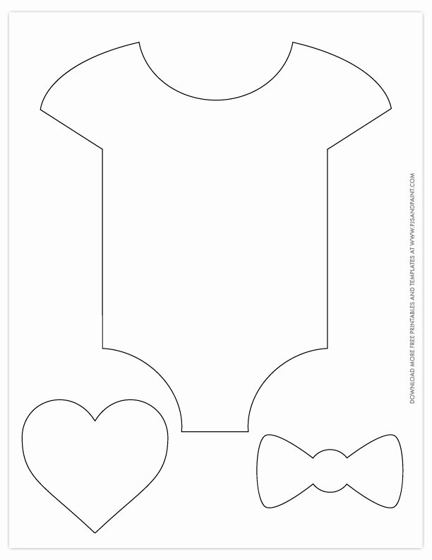 Free Printable Baby Onesie Template Inspirational Free Printable Baby Shower Patterns