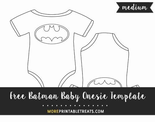 Free Printable Baby Onesie Template New Batman Baby Esie Template – Medium
