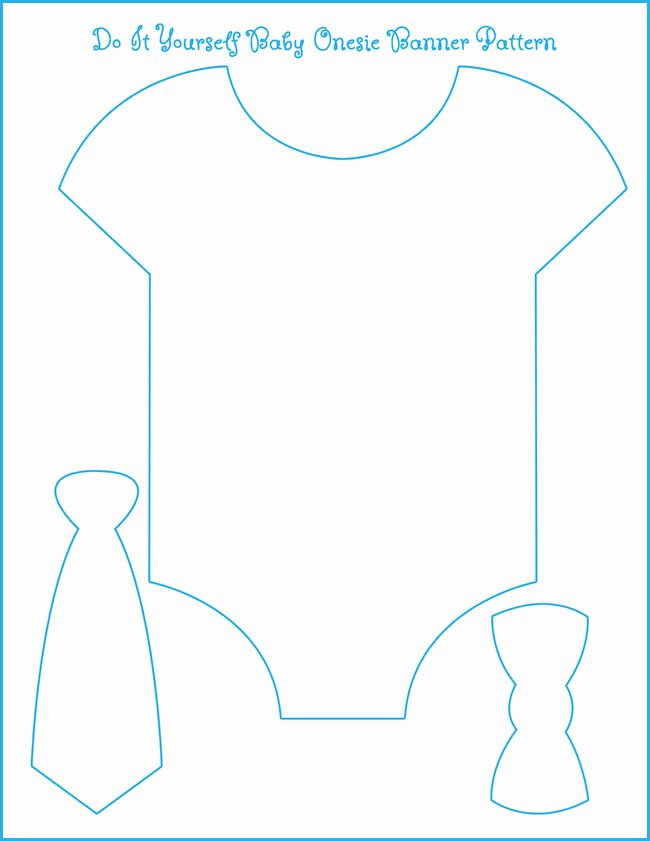 Free Printable Baby Onesie Template New Eight Examples Of Baby Shower themes with Free Esie Banner Template