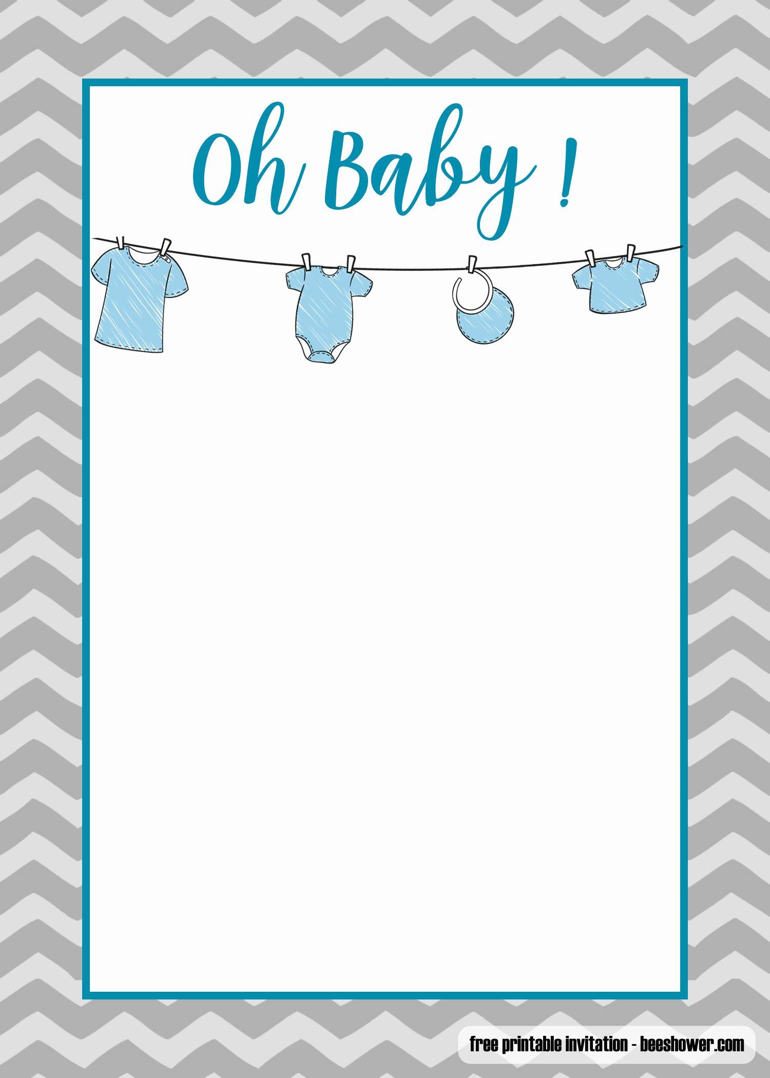 Free Printable Baby Onesie Template New Free Printable Esie Baby Shower Invitations Templates Free Invitation Templates Drevio