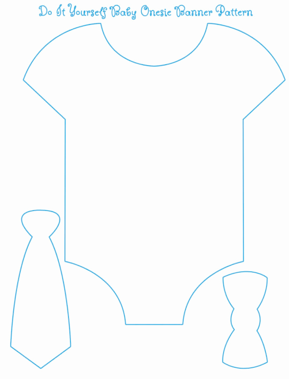 Free Printable Baby Onesie Template Unique Baby Boy Shower Games Free Printable Onesie Banner Crafty Ideas