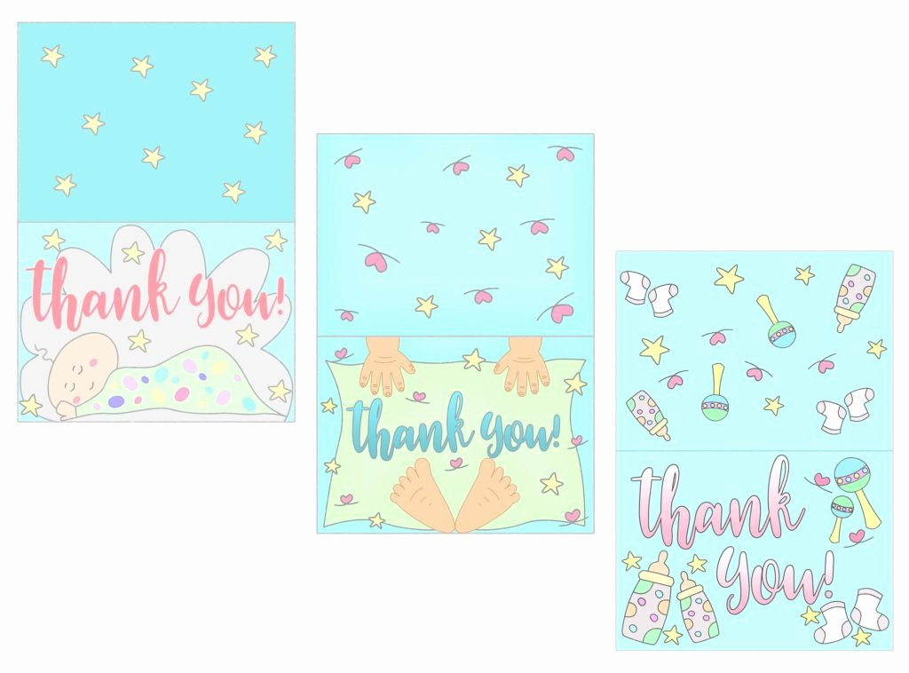 Free Printable Baby Shower Card Elegant Baby Shower Thank You Cards Free Printable