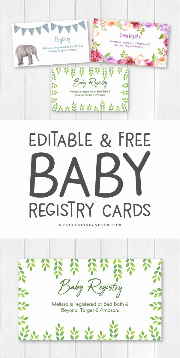 Free Printable Baby Shower Card Fresh Editable & Free Printable Baby Registry Cards to