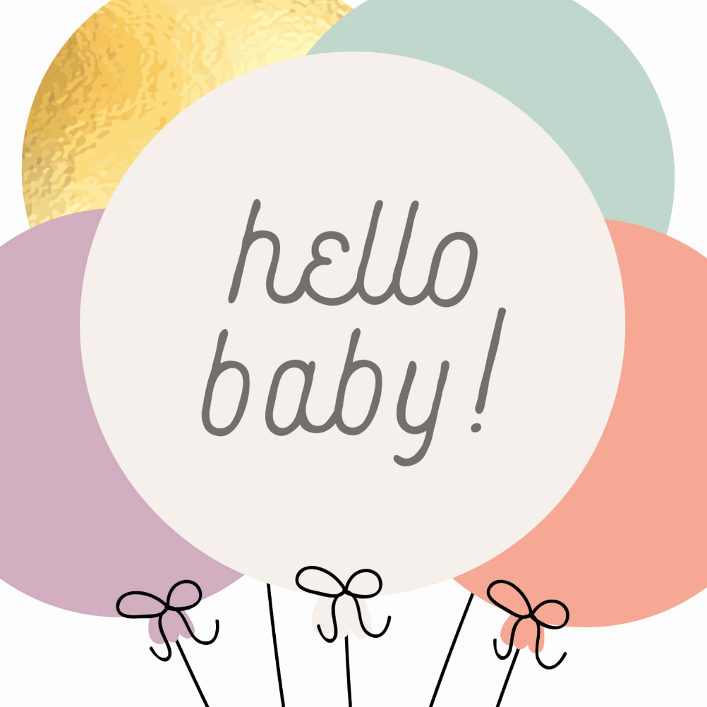 Free Printable Baby Shower Card Luxury Baby Balloons Congratulations Card Free