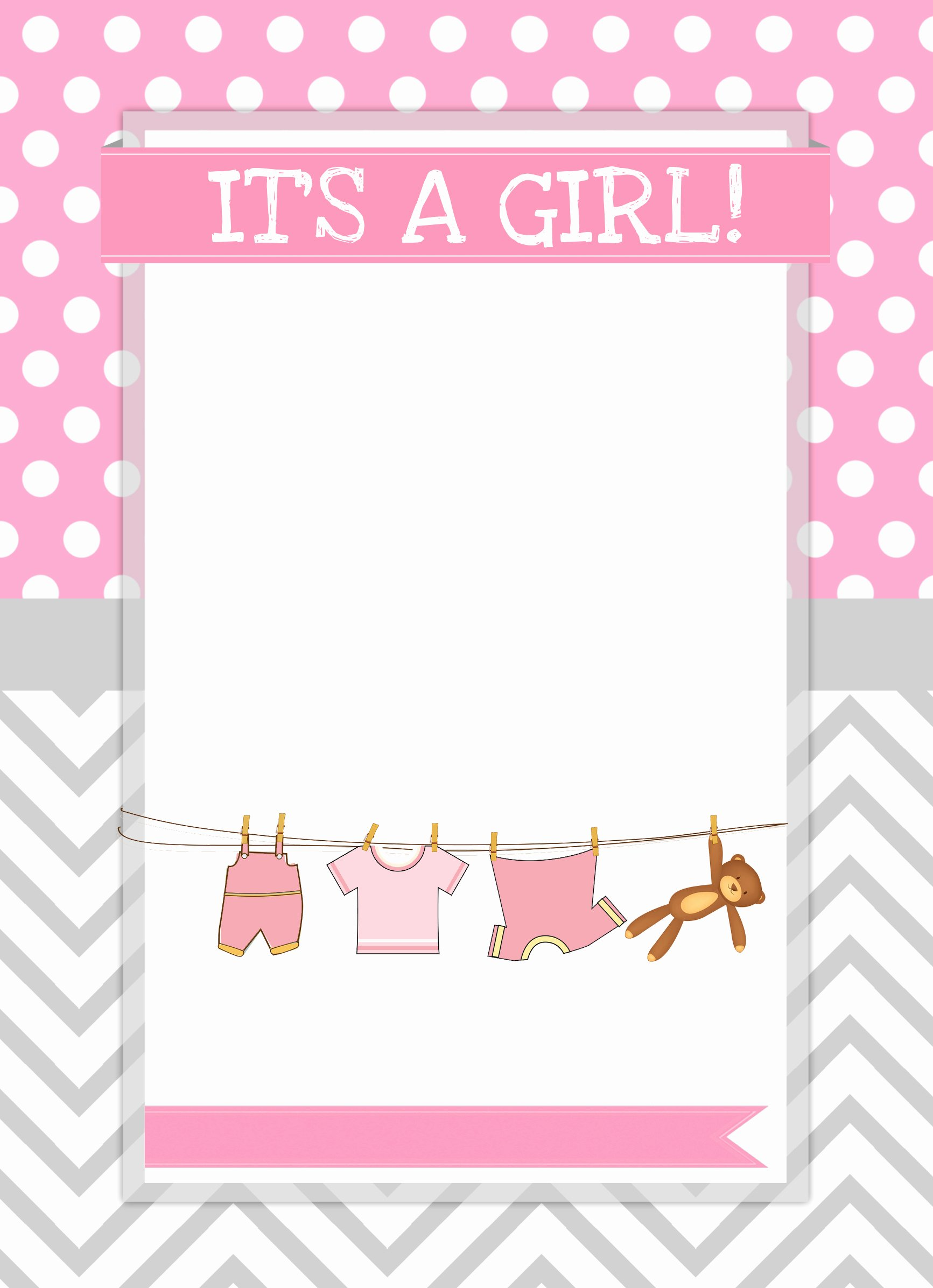 Free Printable Baby Shower Card Luxury Baby Girl Shower Free Printables How to Nest for Less™