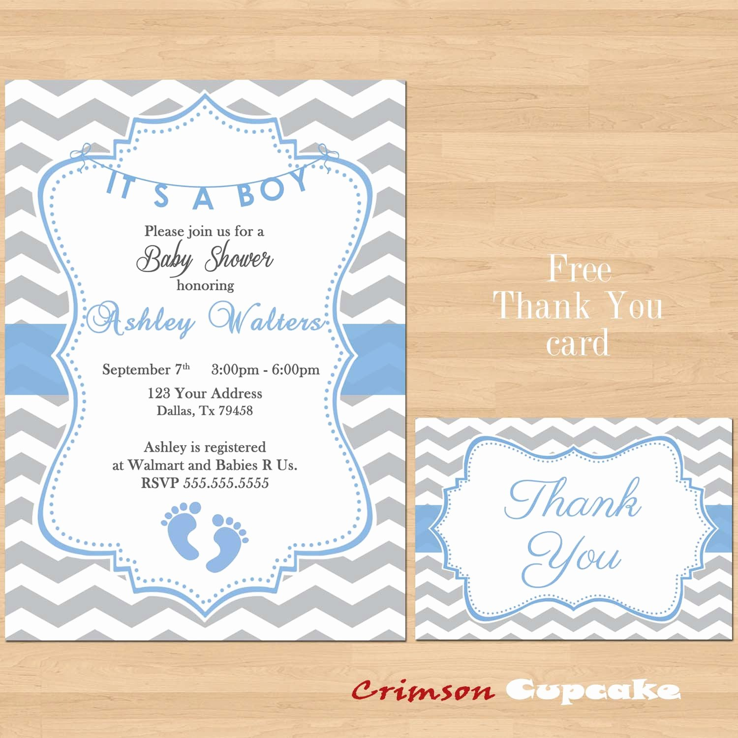 Free Printable Baby Shower Card Luxury Printable Baby Shower Blue Grey Chevron Invitations Boy Gray