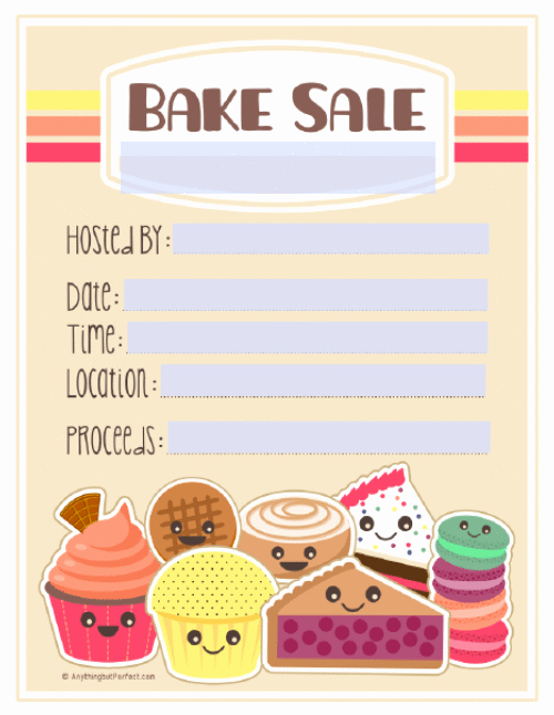 Free Printable Bake Sale Flyers Awesome Bake Sale Printable Labels Set
