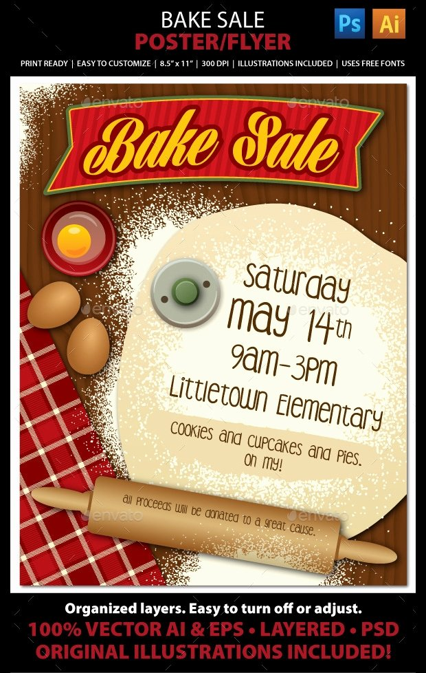 Free Printable Bake Sale Flyers Elegant 25 Bake Sale Flyer Templates Ms Word Publisher