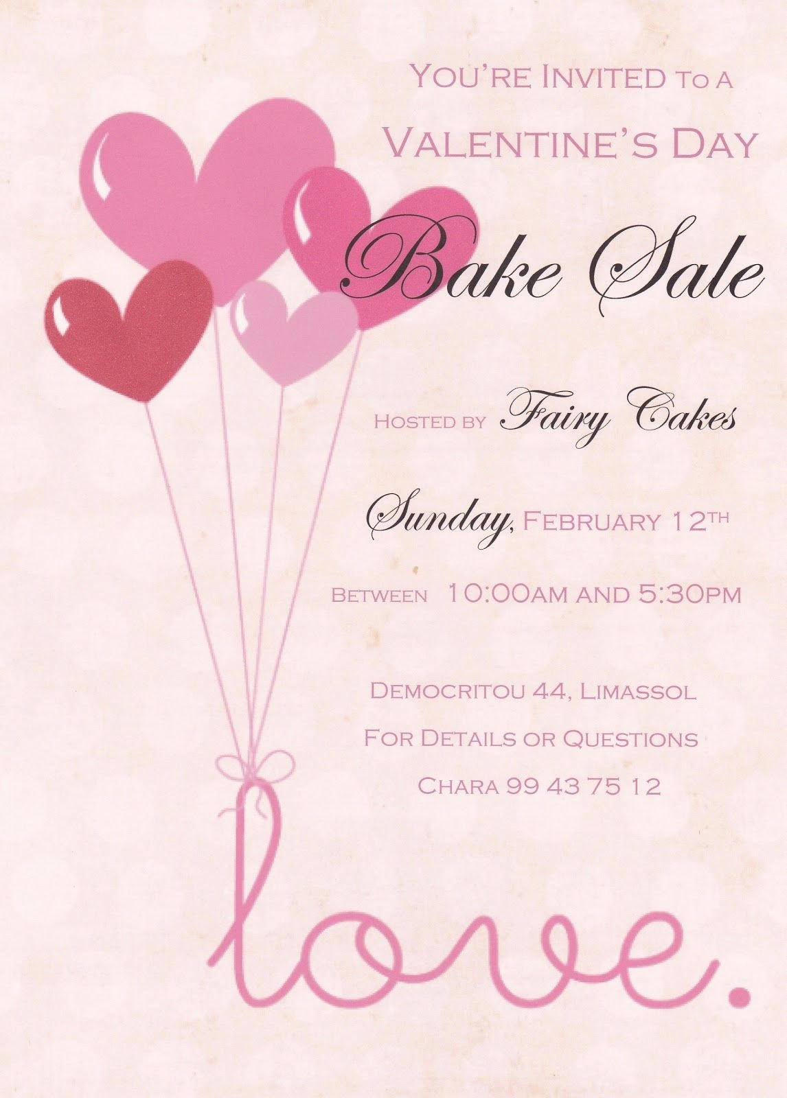 Free Printable Bake Sale Flyers Inspirational Valentine Bake Sale Flyer Flyers