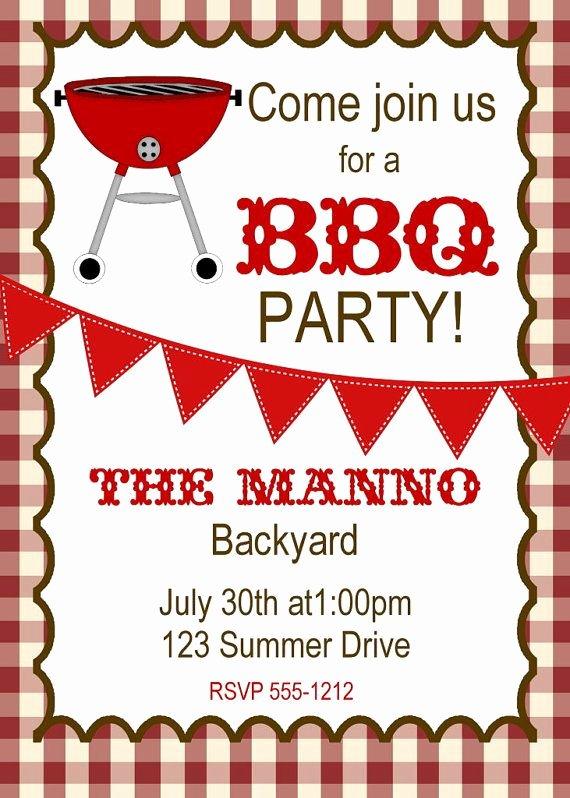 Free Printable Bbq Invitations Beautiful Bbq Invitation Bbq Birthday Invitation by Createphotocards4u $15 00 Bbq