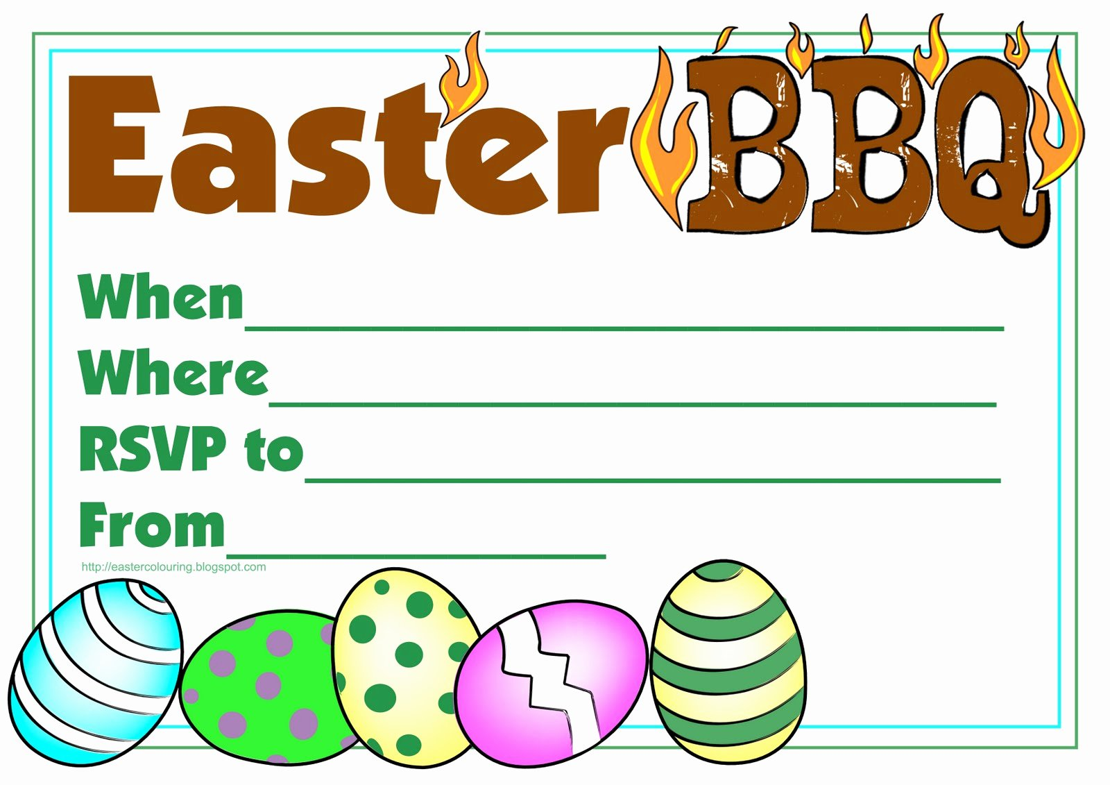 Free Printable Bbq Invitations Beautiful Easter Colouring Easter Barbecue Invitation Free and Printable