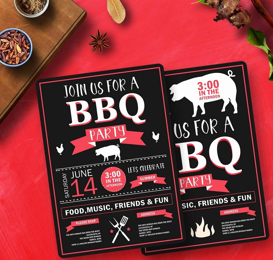 Free Printable Bbq Invitations Best Of 19 Free Invitation Templates Wedding Birthday Dinner Reunion
