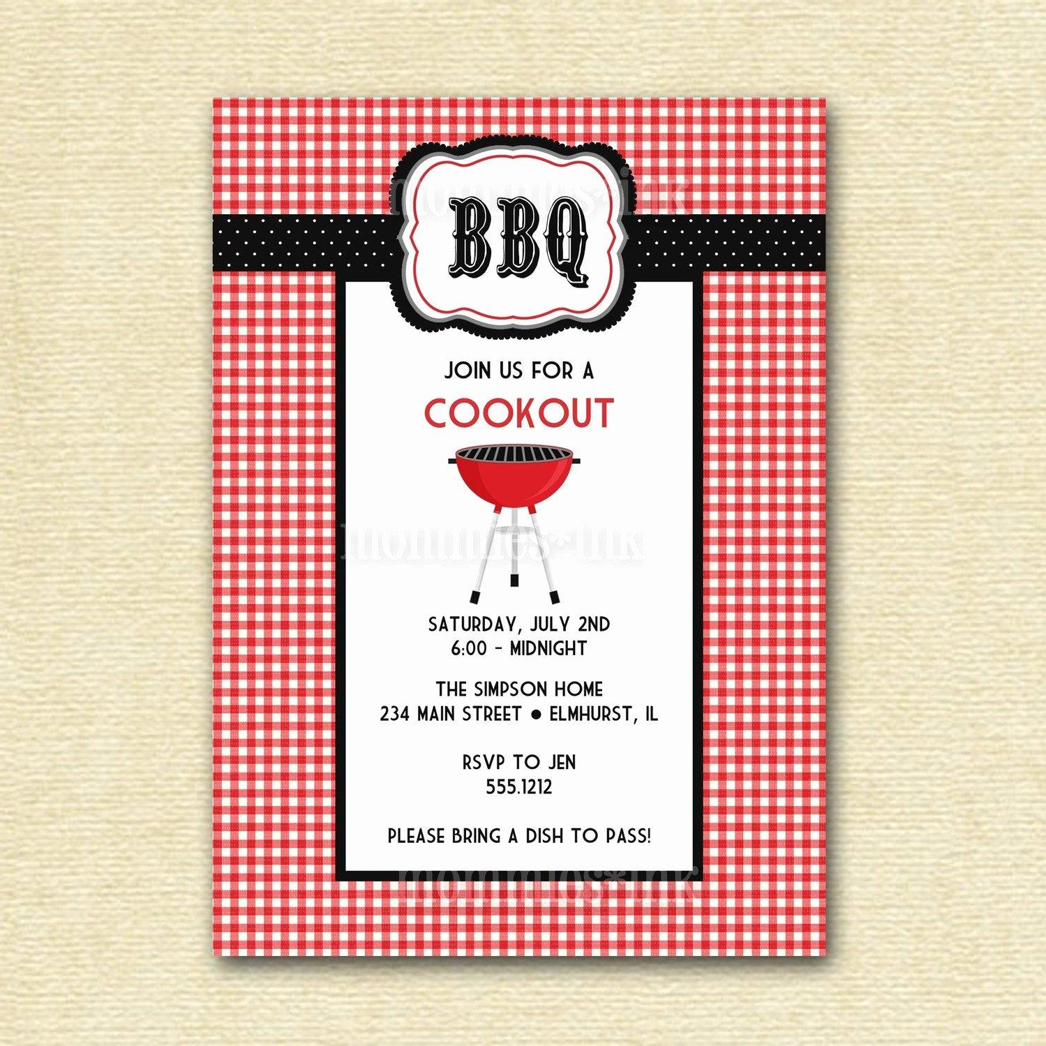 Free Printable Bbq Invitations Fresh Bbq Cookout Invitation Printable Invitation Design
