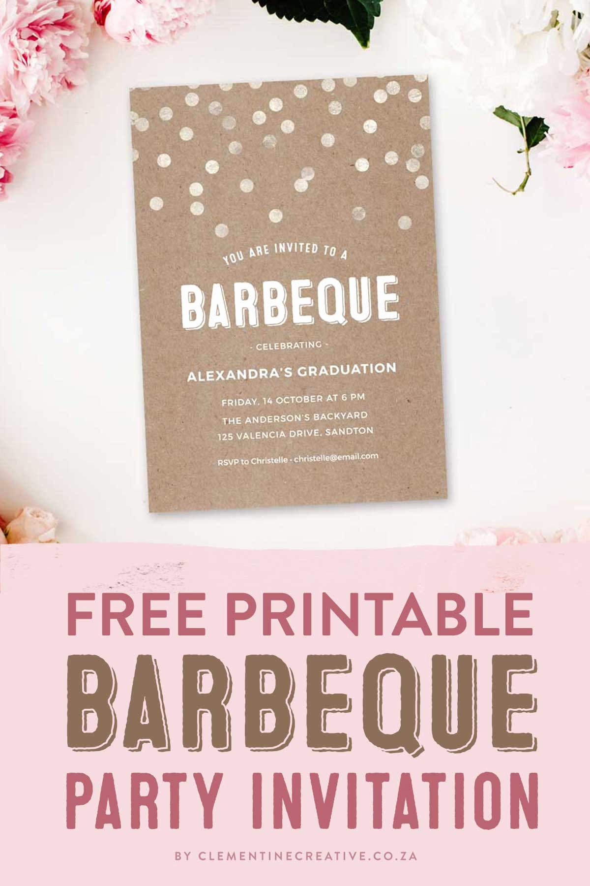 Free Printable Bbq Invitations Fresh Throw A Stylish Barbeque Party with This Gorgeous Invitation Template Free Printable