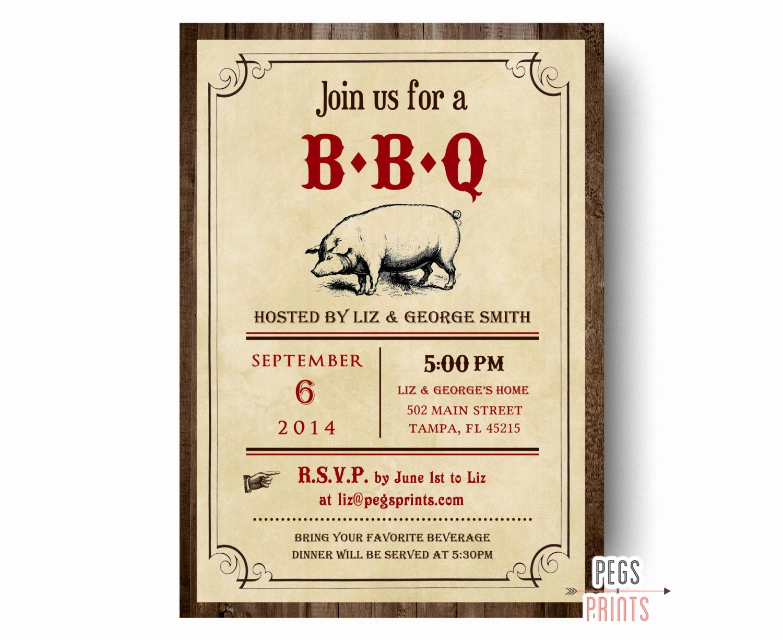Free Printable Bbq Invitations New Bbq Invitation Printable Bbq Invite Barbeque Invitation