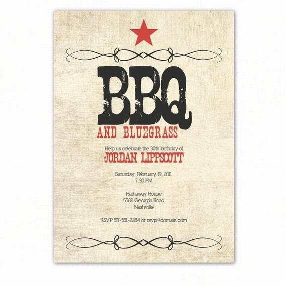Free Printable Bbq Invitations New Western Birthday Party Invitation Western Bbq Party