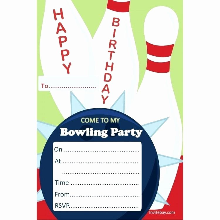 Free Printable Bowling Party Invitations Lovely Bowling Party Invitation Templates Free