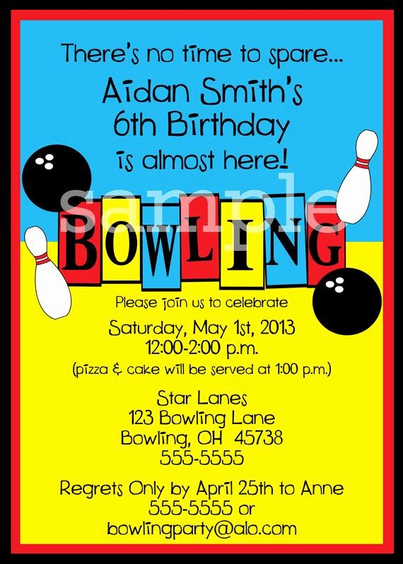 Free Printable Bowling Party Invitations Unique Jpeg Print Your Own Bowling Party Invitations