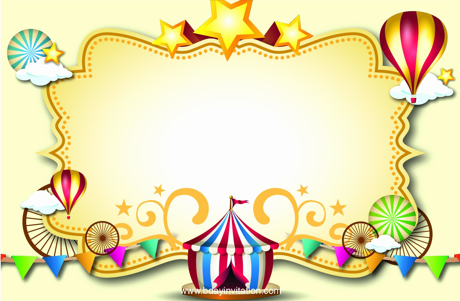 Free Printable Carnival Invitations Awesome Nice Free Printable Carnival Birthday Invitation Template
