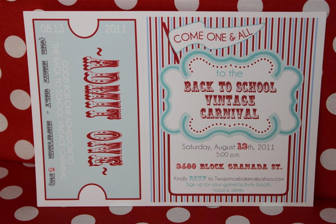 Free Printable Carnival Invitations Beautiful Mon Tresor Real Party Submission Vintage Carnival Back to School