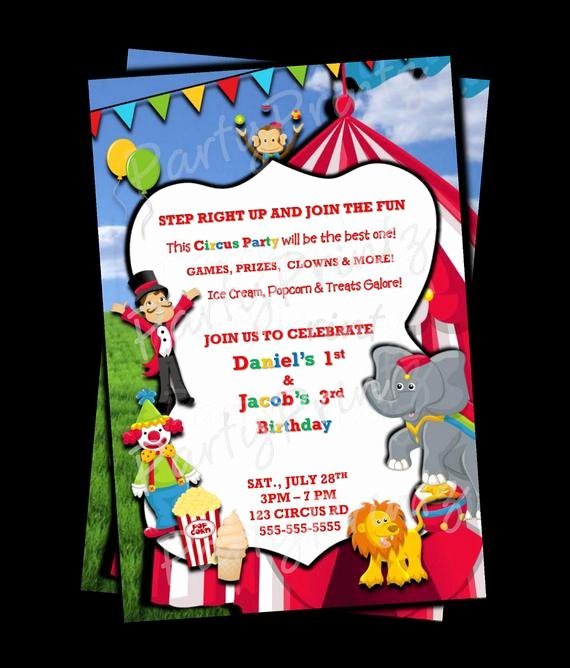 Free Printable Carnival Invitations Best Of Printable Circus Carnival Invitations Personalized
