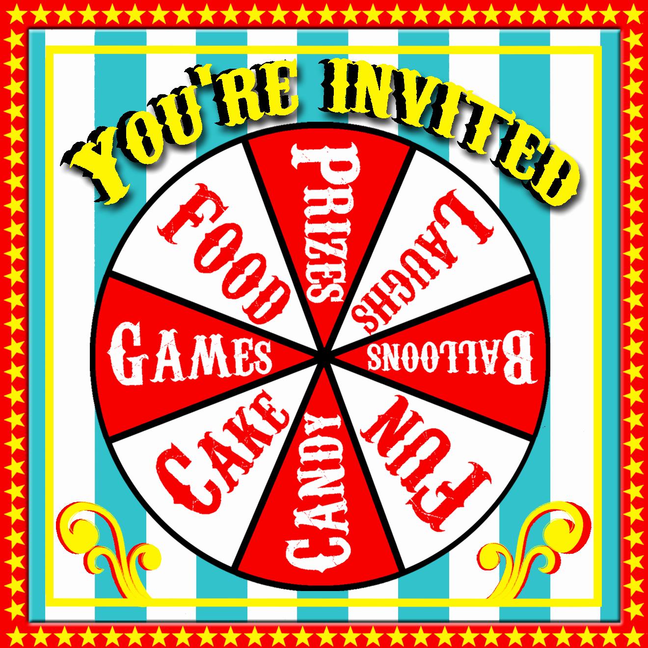 Free Printable Carnival Invitations Elegant Free Printable Carnival Invitations