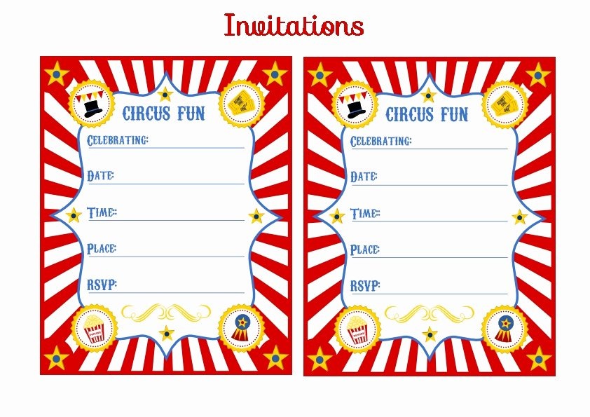 Free Printable Carnival Invitations Luxury Free Circus Birthday Party Printables