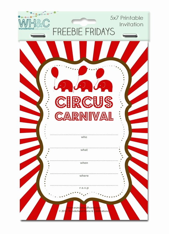 Free Printable Carnival Invitations Unique 17 Best Images About Carnival themed Bday On Pinterest