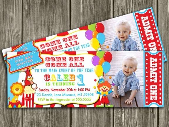 Free Printable Carnival Invitations Unique Printable Circus Ticket Birthday Invitation Carnival Invite