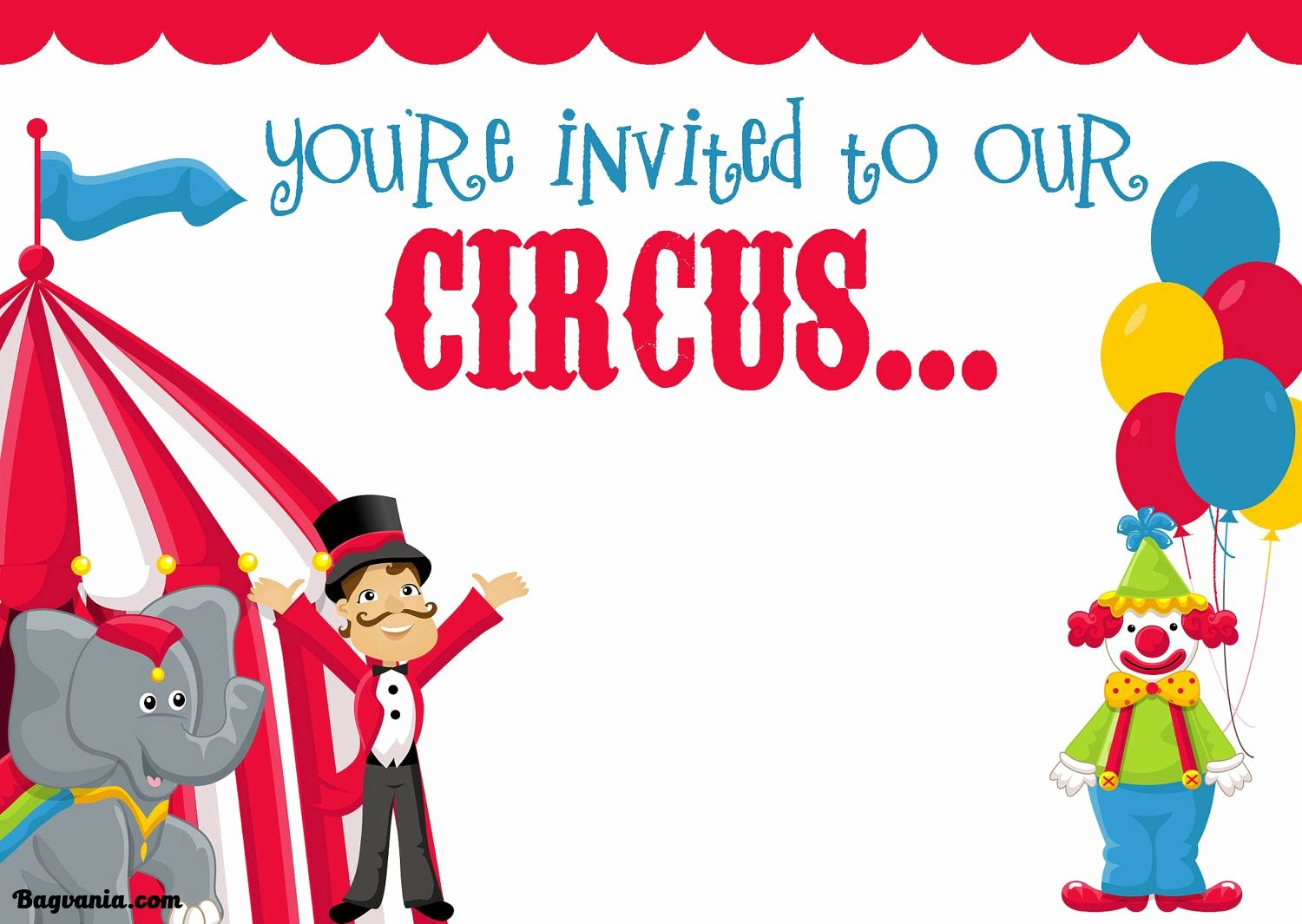 Free Printable Carnival themed Invitations Best Of Cool Free Printable Circus Birthday Invitations Template