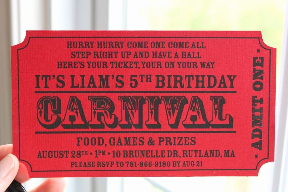 Free Printable Carnival themed Invitations Elegant Carnival Birthday Party Ideas In 2019 Party County Fair