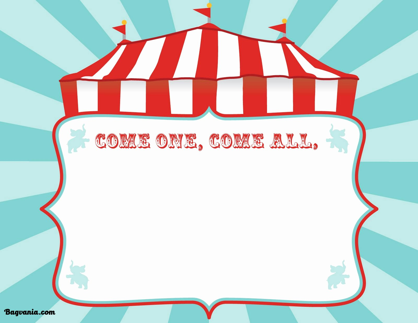 Free Printable Carnival themed Invitations Fresh Free Printable Circus Birthday Invitations Template – Free