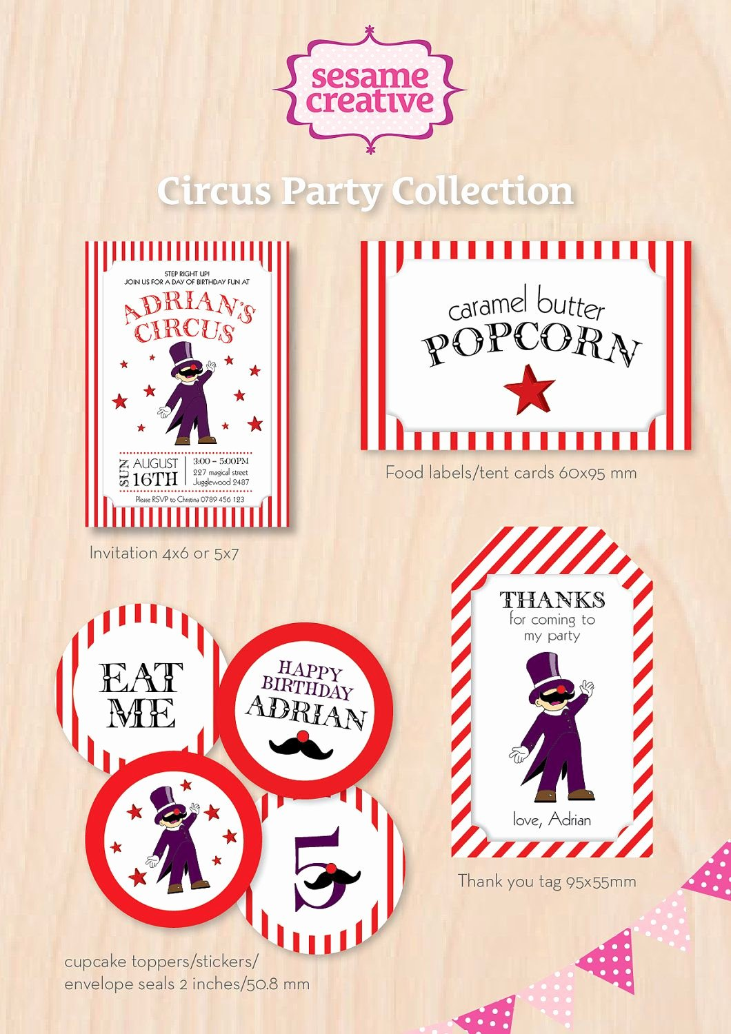 Free Printable Carnival themed Invitations New Printable Circus theme Labels Free Printables Crafts Etc