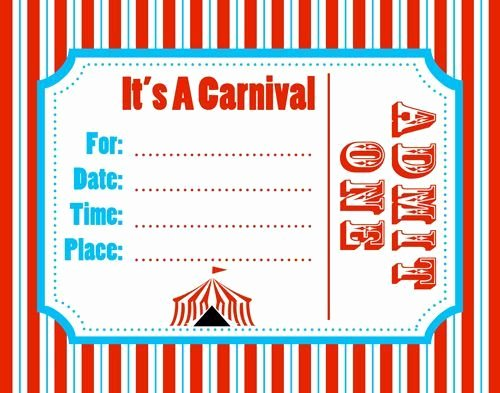 Free Printable Carnival themed Invitations Unique Carnival Invitation Template Best Template Collection Parties