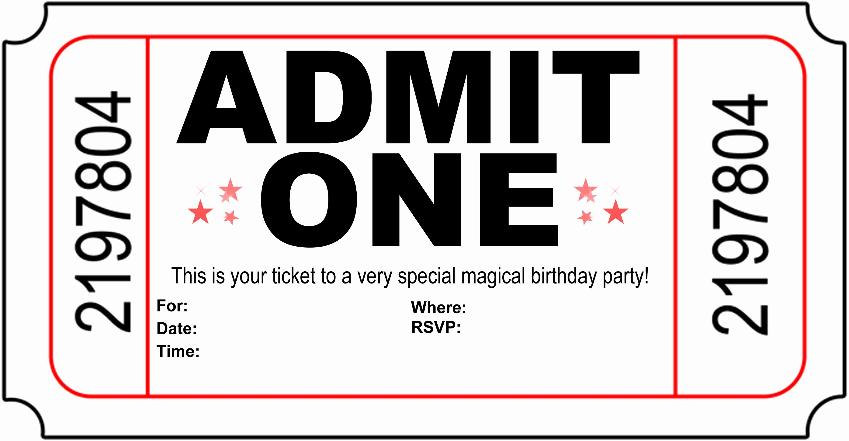 Free Printable Carnival themed Invitations Unique Free Carnival Ticket Invitation Template Download Free Clip Art Free Clip Art On Clipart Library