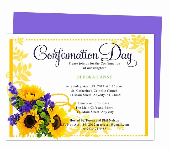 Free Printable Confirmation Cards Awesome Chastity Printable Catholic Confirmation Invitations Template Edit with Word Open Fice