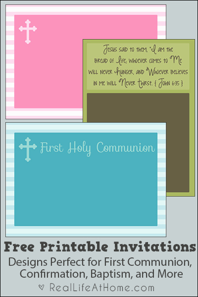 Free Printable Confirmation Cards Best Of Free Printable First Munion Baptism and Confirmation Invitations and Announcements