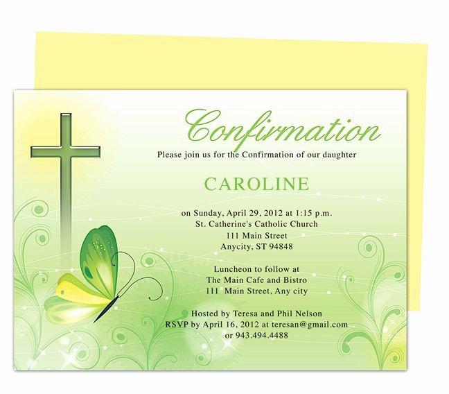 Free Printable Confirmation Cards Elegant Free Printable Confirmation Invitations Template