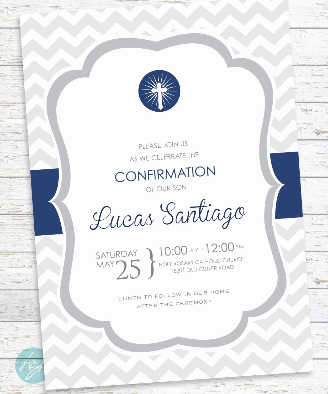 Free Printable Confirmation Cards Fresh Confirmation Invitation Baptism First Munion by Flairandpaper