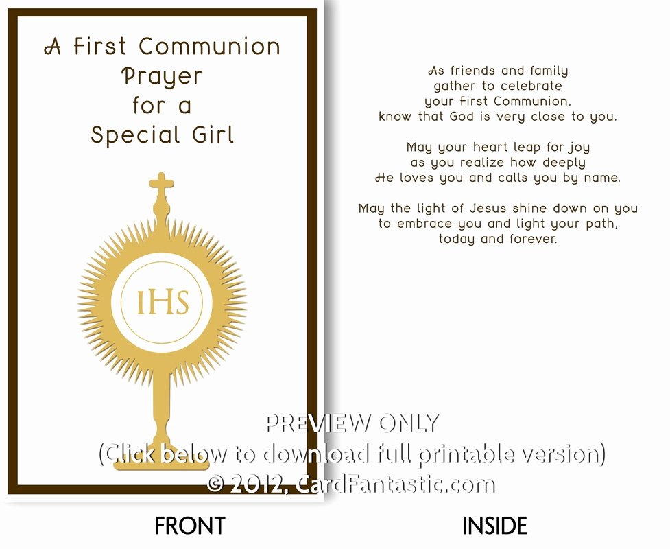 Free Printable Confirmation Cards Luxury First Holy Munion Cards Printable Free Printable Cards