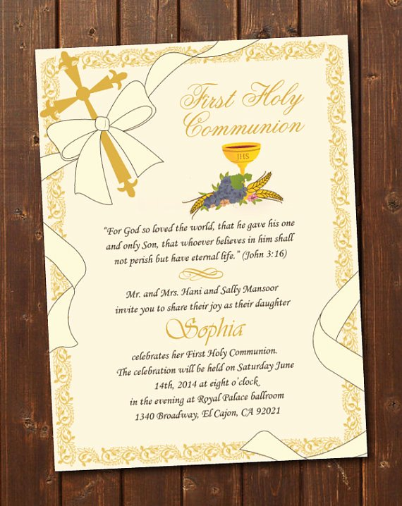 Free Printable Confirmation Cards Luxury Printable First Holy Munion Invitation E Card First Holy